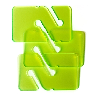 Picture of 3 REMs (Reference Exit Marker) - Transparent Green