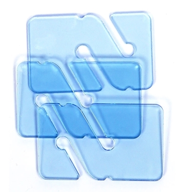Picture of 3 REMs (Reference Exit Marker) - Transparent Blue
